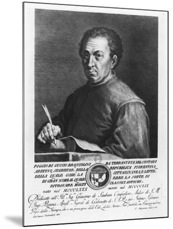 Portrait of Poggio Bracciolini, 1769-Francesco Allegrini-Mounted Giclee Print