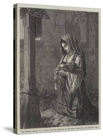 The Mother's Prayer-Francis John Wyburd-Stretched Canvas Print