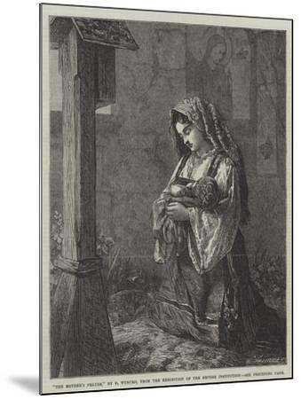 The Mother's Prayer-Francis John Wyburd-Mounted Giclee Print