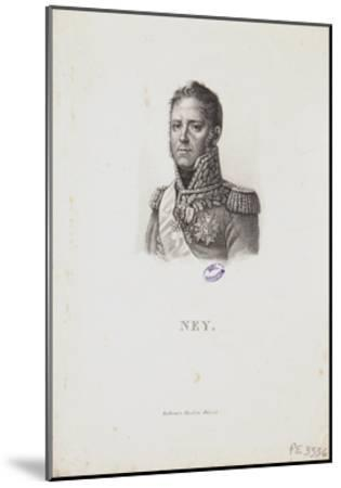 Portrait of Marshal Michel Ney, 1814-Francois Pascal Simon Gerard-Mounted Giclee Print