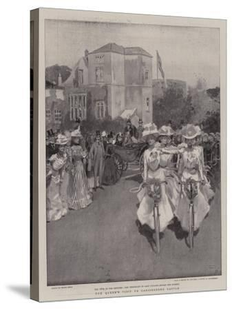 The Queen's Visit to Carisbrooke Castle-Frank Craig-Stretched Canvas Print