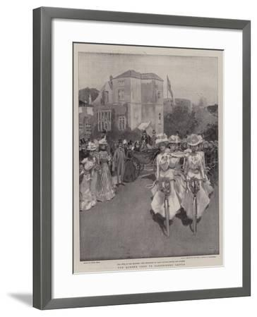 The Queen's Visit to Carisbrooke Castle-Frank Craig-Framed Giclee Print