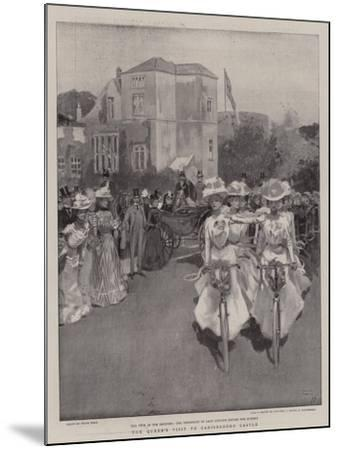 The Queen's Visit to Carisbrooke Castle-Frank Craig-Mounted Giclee Print
