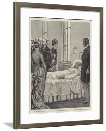 The Prince and Princess of Wales Opening the Marylebone Infirmary at Notting-Hill-Frank Dadd-Framed Giclee Print