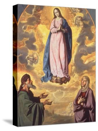 The Immaculate Conception with Saint Joachim and Saint Anne, C.1638-40-Francisco de Zurbaran-Stretched Canvas Print