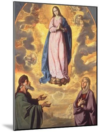 The Immaculate Conception with Saint Joachim and Saint Anne, C.1638-40-Francisco de Zurbaran-Mounted Giclee Print