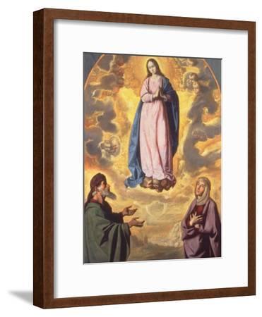 The Immaculate Conception with Saint Joachim and Saint Anne, C.1638-40-Francisco de Zurbaran-Framed Giclee Print