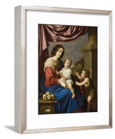 Madonna and Child with the Infant Saint John, 1658-Francisco de Zurbaran-Framed Giclee Print