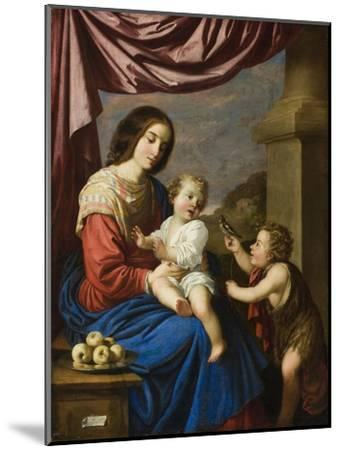 Madonna and Child with the Infant Saint John, 1658-Francisco de Zurbaran-Mounted Giclee Print