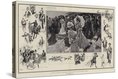 A Great Society Gathering, Royal Ascot in Coronation Year-Frank Craig-Stretched Canvas Print
