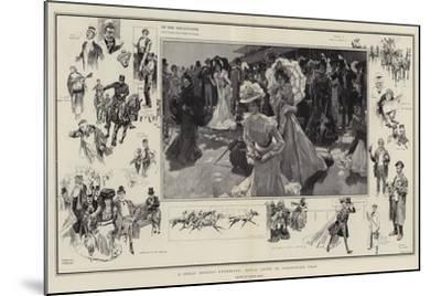 A Great Society Gathering, Royal Ascot in Coronation Year-Frank Craig-Mounted Giclee Print