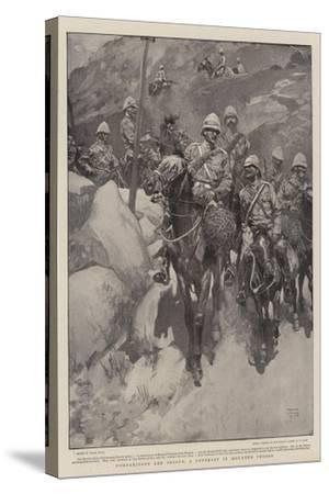 Comparisons are Odious, a Contrast in Mounted Troops-Frank Craig-Stretched Canvas Print