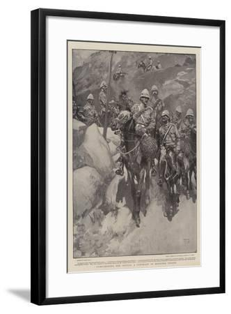 Comparisons are Odious, a Contrast in Mounted Troops-Frank Craig-Framed Giclee Print