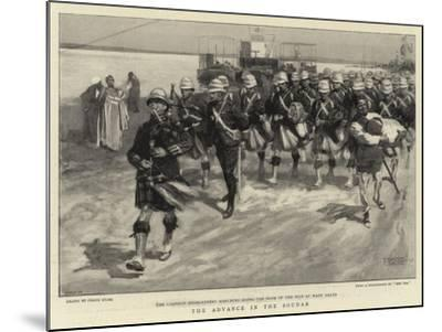 The Advance in the Soudan-Frank Craig-Mounted Giclee Print