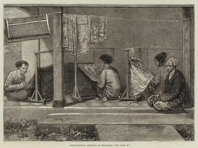 Embroidering Sarangs in Sumatra-Felix Regamey-Framed Giclee Print