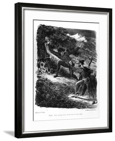 Mephistopheles and Faust on their Way to the Sabbath at Night for Faust by Goethe-Eugene Delacroix-Framed Giclee Print