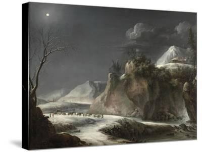 Winter Scene in the Italian Alps, C.1735-1765-Francesco Foschi-Stretched Canvas Print