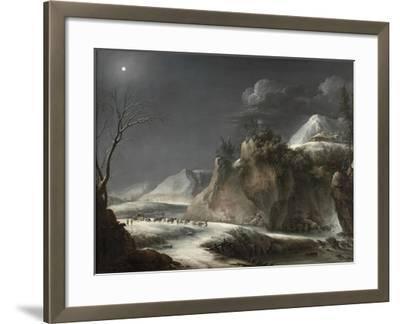 Winter Scene in the Italian Alps, C.1735-1765-Francesco Foschi-Framed Giclee Print