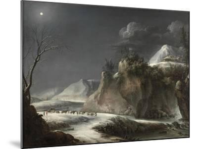 Winter Scene in the Italian Alps, C.1735-1765-Francesco Foschi-Mounted Giclee Print