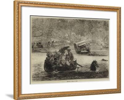 Crossing a River in India-Felix Regamey-Framed Giclee Print