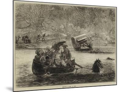 Crossing a River in India-Felix Regamey-Mounted Giclee Print