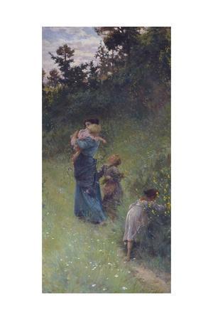 Wildflowers, 1896-Francesco Gioli-Framed Giclee Print