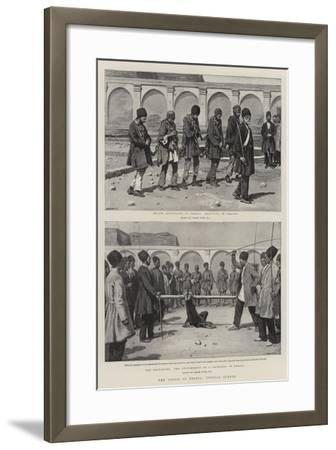 The Crisis in Persia, Typical Scenes-Frank Dadd-Framed Giclee Print