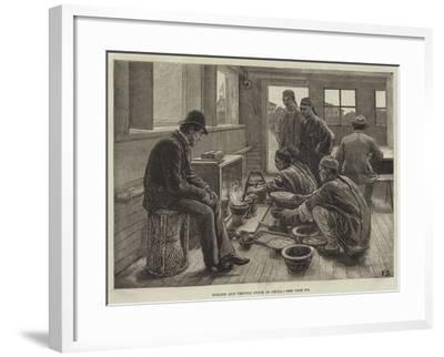 Boiling and Testing Opium in China-Frank Dadd-Framed Giclee Print
