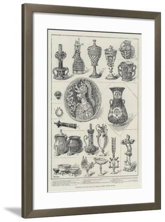 Specimens in the New Glass and Ceramic Gallery, British Museum-Frank Watkins-Framed Giclee Print