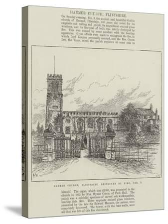 Hanmer Church, Flintshire, Destroyed by Fire, 3 February-Frank Watkins-Stretched Canvas Print