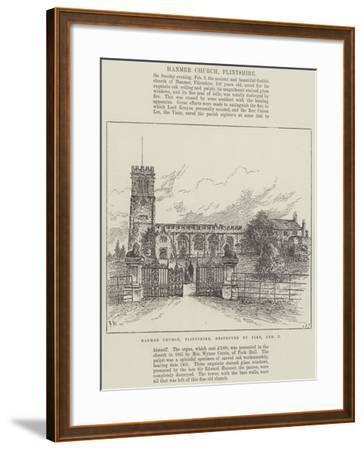 Hanmer Church, Flintshire, Destroyed by Fire, 3 February-Frank Watkins-Framed Giclee Print