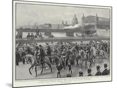 Passing over London Bridge, the Naval Adc's in the Procession-Frank Dadd-Mounted Giclee Print