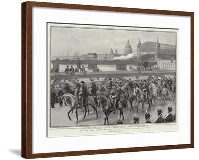 Passing over London Bridge, the Naval Adc's in the Procession-Frank Dadd-Framed Giclee Print