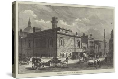 Newgate Prison, About to Be Demolished-Frank Watkins-Stretched Canvas Print