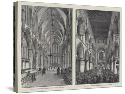 Southwell Cathedral-Frank Watkins-Stretched Canvas Print