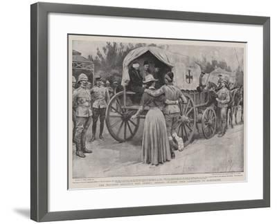 The Wounded Soldier's Best Friend, Sending Invalids from Ladysmith to Maritzburg-Frank Dadd-Framed Giclee Print