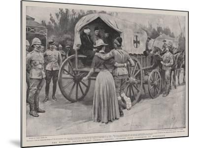 The Wounded Soldier's Best Friend, Sending Invalids from Ladysmith to Maritzburg-Frank Dadd-Mounted Giclee Print