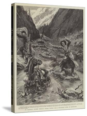 Dr Lansdell's Journey Through Chinese Central Asia, a Mud-Stream an Earthquake-Frank Dadd-Stretched Canvas Print