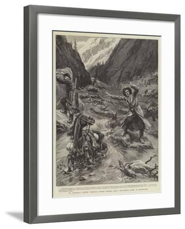 Dr Lansdell's Journey Through Chinese Central Asia, a Mud-Stream an Earthquake-Frank Dadd-Framed Giclee Print