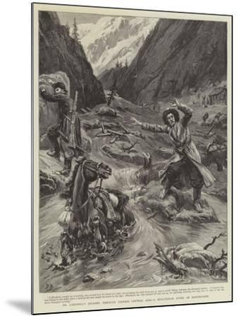 Dr Lansdell's Journey Through Chinese Central Asia, a Mud-Stream an Earthquake-Frank Dadd-Mounted Giclee Print