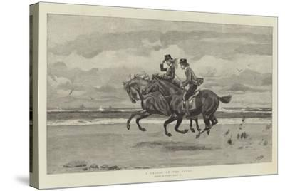 A Gallop on the Sands-Frank Dadd-Stretched Canvas Print