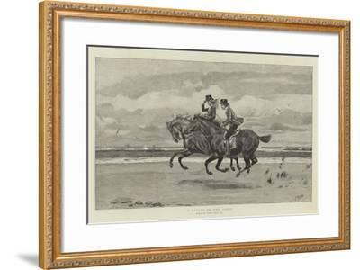 A Gallop on the Sands-Frank Dadd-Framed Giclee Print