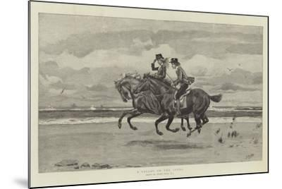 A Gallop on the Sands-Frank Dadd-Mounted Giclee Print