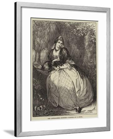 The Approaching Footstep-Frank Stone-Framed Giclee Print