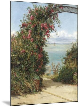 A Garden by the Sea-Frank Topham-Mounted Giclee Print