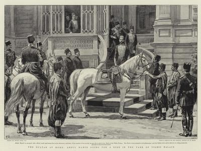 The Sultan at Home, Abdul Hamid Going for a Ride in the Park of Yildiz Palace-Frank Dadd-Framed Giclee Print