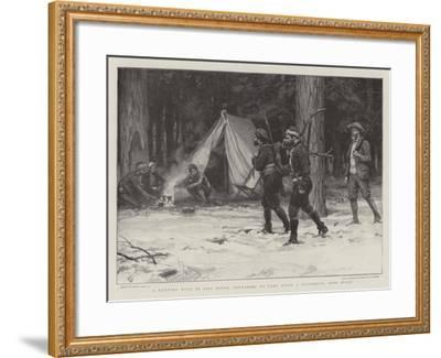 A Hunting Tour in Asia Minor, Returning to Camp after a Successful Deer Stalk-Frank Dadd-Framed Giclee Print