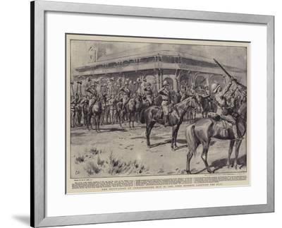 The Occupation of Johannesburg, 31 May 1900, Lord Roberts Saluting the Flag-Frank Dadd-Framed Giclee Print