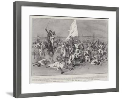 The Battle of Omdurman, 2 September 1898, the First Charge of the Dervishes-Frank Dadd-Framed Giclee Print