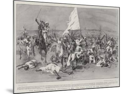 The Battle of Omdurman, 2 September 1898, the First Charge of the Dervishes-Frank Dadd-Mounted Giclee Print